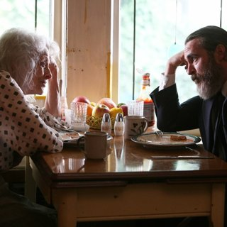 Judith Roberts stars as Joe's Mother and Joaquin Phoenix stars as Joe in Amazon Studios' You Were Never Really Here (2018)