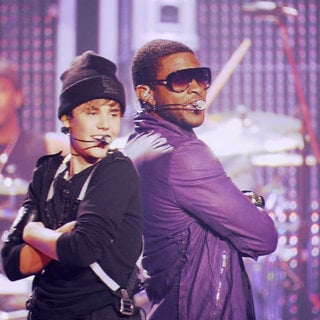Justin Bieber and Usher in Paramount Pictures' Justin Bieber: Never Say Never (2011)