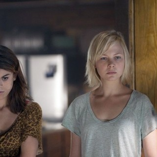 Lindsey Shaw stars as Amber and Adelaide Clemens stars as Emma in Anchor Bay Films' No One Lives (2013) - no-one-lives-image08
