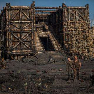 Logan Lerman stars as Ham and Russell Crowe stars as Noah in Paramount Pictures' Noah (2014) - noah-image04