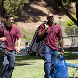 Eddie Cibrian stars as Brock Houseman and Morris Chestnut stars as Dave Johnson in Screen Gems' Not Easily Broken (2009). Photo credit by Ron Phillips. - not_easily_broken05