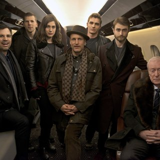 Mark Ruffalo, Jesse Eisenberg, Lizzy Caplan, Woody Harrelson, Dave Franco and Daniel Radcliffe in Lionsgate Films' Now You See Me 2 (2016)