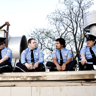 Seth Rogen stars as Ronnie Barnhardt and Michael Pena stars as Dennis in Warner Bros. Pictures' Observe and Report (2009)