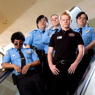 Michael Pena, Seth Rogen and Jesse Plemons in Warner Bros. Pictures' Observe and Report (2009)