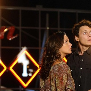 Ashley Sommers stars as Penny Kalisto and Anton Yelchin stars as Odd Thomas in Image Entertainment's Odd Thomas (2014) - odd-thomas-image04