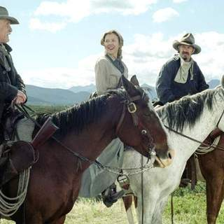 Robert Duvall, Annette Bening and Kevin Costner in Buena Vista Pictures' Open Range (2003) - open_range_05