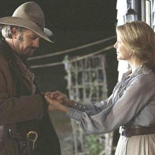 Kevin Costner and Annette Bening in Buena Vista Pictures' Open Range (2003) - open_range_16