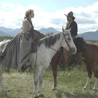 Annette Bening and Kevin Costner in Buena Vista Pictures' Open Range (2003) - open_range_23