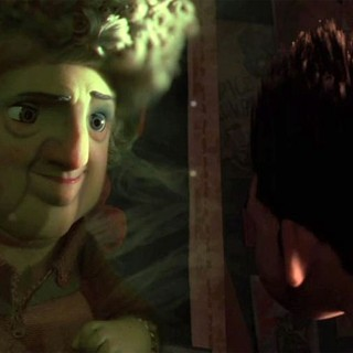 The ghost of Norman's Grandmother and Norman from Focus Features' ParaNorman (2012)