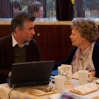 Philomena - Steve Coogan stars as Martin Sixsmith and Judi Dench stars as Philomena Lee in The Weinstein Company's Philomena (2013)
