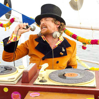 Rhys Darby stars as Angus in Focus Features' Pirate Radio (2009). Photo credit by Alex Bailey.