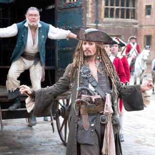 Kevin McNally stars as Gibbs and Johnny Depp stars as Jack Sparrow in Walt Disney Pictures' Pirates of the Caribbean: On Stranger Tides (2011)