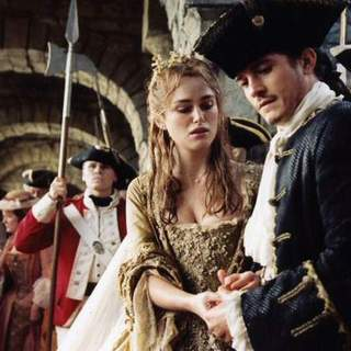Keira Knightley and Orlando Bloom in Walt Disney Pictures' Pirates of the Caribbean: Dead Man's Chest (2006)