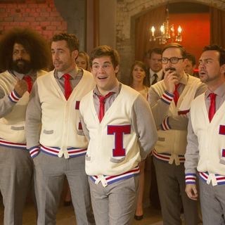 Pitch Perfect 2 - Reggie Watts, Freddie Stroma, Adam DeVine, Austin Lyon and Skylar Astin in Universal Pictures' Pitch Perfect 2 (2015)
