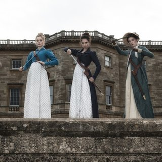 Ellie Bamber, Bella Heathcote, Lily Jame, Millie Brady and Suki Waterhouse in Screen Gems' Pride and Prejudice and Zombies (2016) - pride-prejudice-zombies05