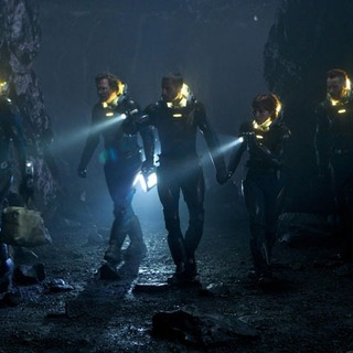 Michael Fassbender, Logan Marshall-Green and Noomi Rapace in 20th Century Fox's Prometheus (2012)