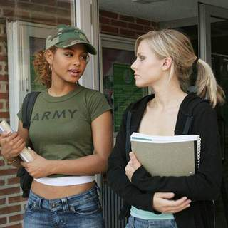 Pulse - Christina Milian as Isabell Fuentes and Kristen Bell as Mattie Webber in Dimension Films' Pulse (2006)
