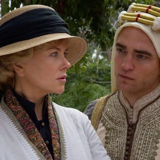 Nicole Kidman stars as Gertrude Bell and Robert Pattinson stars as Col. T.E. Lawrence in IFC Films' Queen of the Desert (2017)