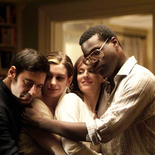 Mather Zickel,Anne Hathaway,Rosemarie DeWitt and Tunde Adebimpe in Sony Pictures Classics' Rachel Getting Married (2008). Photo by Bob Vergara. - rachel_getting_married14