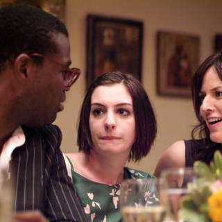 Tunde Adebimpe, Anne Hathaway and Rosemarie DeWitt in Sony Pictures Classics' Rachel Getting Married (2008). Photo by Bob Vergara. - rachel_getting_married20