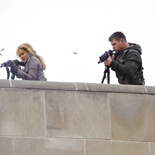 Isabel Lucas stars as Erica and Chris Hemsworth stars as Jed Eckert in FilmDistrict's Red Dawn (2012)
