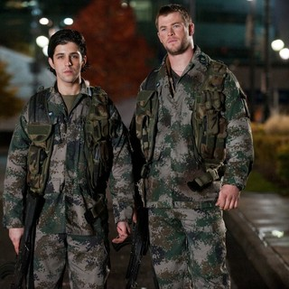 Josh Peck stars as Matt Eckert and Chris Hemsworth stars as Jed Eckert in FilmDistrict's Red Dawn (2012) - red-dawn-image03