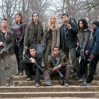 Chris Hemsworth, Adrianne Palicki, Josh Peck, Isabel Lucas, Julian Alcaraz, Alyssa Diaz, Edwin Hodge, Josh Hutcherson and Connor Cruise in FilmDistrict's Red Dawn (2012)