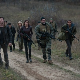 Chris Hemsworth, Adrianne Palicki, Jeffrey Dean Morgan and Connor Cruise in FilmDistrict's Red Dawn (2012)