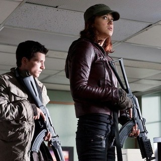 Josh Hutcherson stars as Robert and Adrianne Palicki stars as Toni in FilmDistrict's Red Dawn (2012)