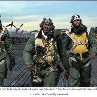 Michael B. Jordan, Nate Parker, Kevin Phillips, David Oyelowo and Elijah Kelley in The 20th Century Fox's Red Tails (2012)