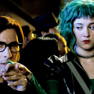 Jason Schwartzman stars as Gideon Gordon Graves and Mary Elizabeth Winstead stars as Ramona V. Flowers in Universal Pictures' Scott Pilgrim vs. the World (2010)
