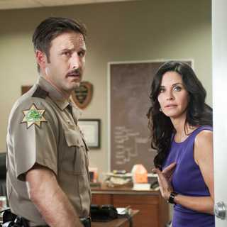 David Arquette stars as Sheriff Dewey Riley and Courteney Cox stars as Gale Weathers-Riley in Dimension Films' Scream 4 (2011)
