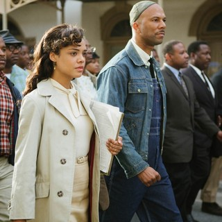 Tessa Thompson stars as Diane Nash and Common stars as James Bevel in Paramount Pictures' Selma (2014)