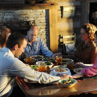 Deborah Ann Woll, Robert Duvall, Lucas Black and Melissa Leo in Utopia Pictures' Seven Days in Utopia (2011) - seven-days-in-utopia01