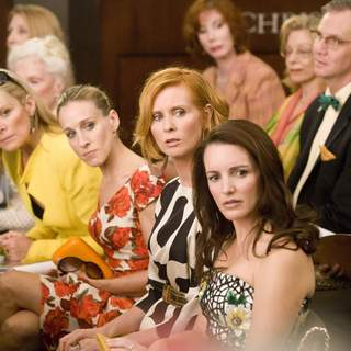 Kim Cattrall, Sarah Jessica Parker, Cynthia Nixon and Kristin Davis in New Line Cinema's SEX AND THE CITY: THE MOVIE.