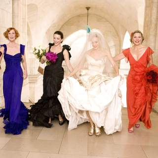 "Cynthia Nixon (left) stars as ""Miranda Hobbes"", Kristin Davis (center left) stars as ""Charlotte York-Goldenblatt"", Sarah Jessica Parker (center right)stars as ""Carrie Bradshaw"" and Kim Cattrall (right) stars as ""Samantha Jones"" in New Line Cinema's upcoming release of SEX AND THE CITY. - sex_and_the_city10"
