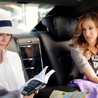Cynthia Nixon stars as Miranda Hobbes and Sarah Jessica Parker stars as Carrie Bradshaw in Warner Bros. Pictures' Sex and the City 2 (2010)