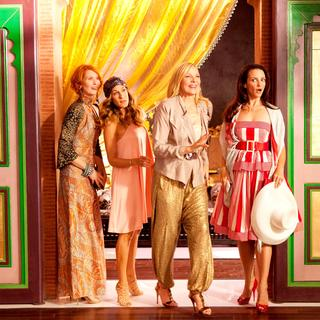 Cynthia Nixon, Sarah Jessica Parker, Kim Cattrall and Kristin Davis in Warner Bros. Pictures' Sex and the City 2 (2010)