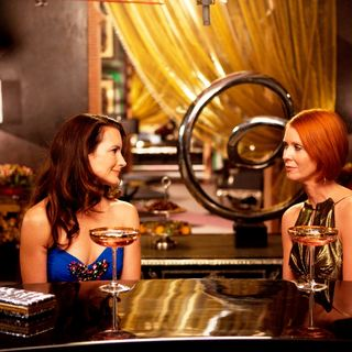 Kristin Davis stars as Charlotte York and Cynthia Nixon stars as Miranda Hobbes in Warner Bros. Pictures' Sex and the City 2 (2010)