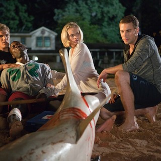 Chris Zylka, Sinqua Walls, Sara Paxton and Dustin Milligan in Relativity Media's Shark Night 3D (2011)