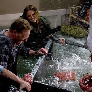 Ian Ziering stars as Fin Shepard and Cassie Scerbo stars as Nova Clarke in Regal Entertainment Group's Sharknado (2013)
