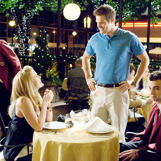 Alice Eve, Geoff Stults and Jay Baruchel in DreamWorks SKG's She's Out of My League (2010). Photo credit by Darren Michaels.