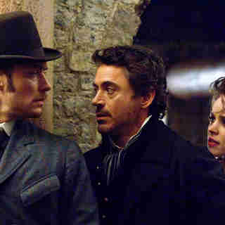 Jude Law, Robert Downey Jr. and Rachel McAdams in Warner Bros. Pictures' Sherlock Holmes (2009)