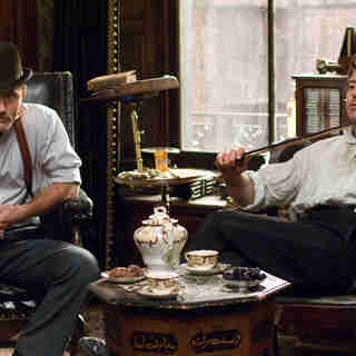 Jude Law stars as Dr. John Watson and Robert Downey Jr. stars as Sherlock Holmes in Warner Bros. Pictures' Sherlock Holmes (2009)