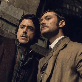 Robert Downey Jr. stars as Sherlock Holmes and Jude Law stars as Dr. John Watson in Warner Bros. Pictures' Sherlock Holmes (2009)