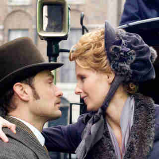 Sherlock Holmes - Jude Law stars as Dr. John Watson and Kelly Reilly stars as Mary Morstan in Warner Bros. Pictures' Sherlock Holmes (2009)