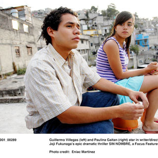 Guillermo Villegas stars as Orlando and Paulina Gaitan stars as Sayra in Focus Features' Sin Nombre (2009). Photo credit by Eniac Martinez.
