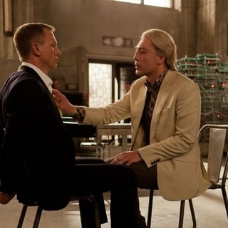 Skyfall - Daniel Craig stars as James Bond and Javier Bardem stars as Silva in Columbia Pictures' Skyfall (2012)