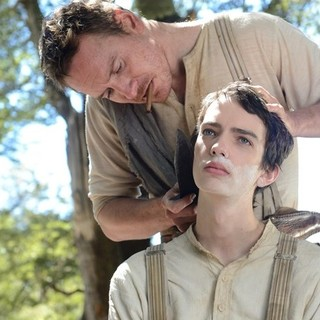 Michael Fassbender stars as Silas Selleck and Kodi Smit-McPhee stars as Jay Cavendish in A24's Slow West (2015) - slow-west01