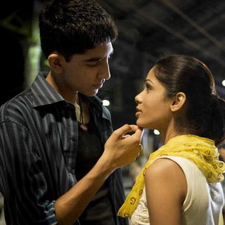 Dev Patel stars as Jamal Malik and Freida Pinto stars as Latika in Fox Searchlight Pictures' Slumdog Millionaire (2008). Photo credit by Ishika Mohan.